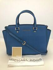 Michael Kors * Selma Large Leather Satchel Bag Heritage Blue COD PayPal