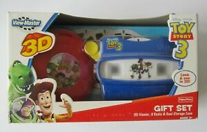 Toy Story 3 Viewer and 3 Reels RARE View-Master Gift Set Sealed, New Condition