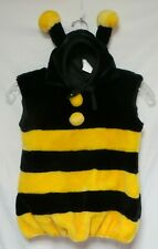 Bumble Bee Costume 2 Pc With Hood Size Up 12 To 24 Month Plush Fleece
