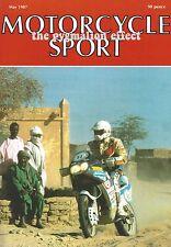 Motorcycle Sport Magazine May 1987 - Kawasaki GPz550 Laverda 750 SF2