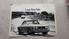 Lancia Fulvia Safari depliant originale auto brochure