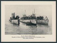 Imperial Navy Submarine War Armistice SURRENDER ENGLAND NORTH SEA 1918