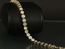 Zeitloses Brillant Tennis Armband ca. 4,80ct  15,2g 585/- Gelbgold