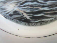 NAUTICAL, CURRIER & IVES SHIP'S PRINTED PLATE