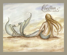 Seaside Mermaid Print from Original Painting By Camille Grimshaw beach house