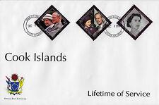 Isole Cook 2011 FDC Lifetime servizi 6V Set / 2 comprende la regina Elisabetta Philip