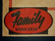 """Rare Vintage """"Family Bargain Center"""" Paper Shopping Bag"""