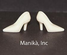 Randall Craig RTW Ivory Pointed Toe Pumps (Spikes) for 12-inch Fashion Dolls