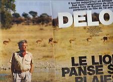 COUPURE DE PRESSE 2003 ALAIN DELON Le lion panse ses plaies