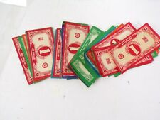 Vintage Easy Money Milton Bradley Game Pieces and Money NO BOARD