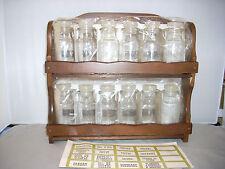 Vintage Wooden Spice Rack--NEVER USED