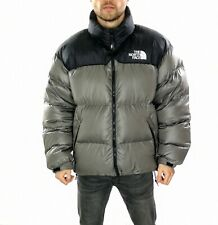 Men's The North Face 700 Nuptse Puffer Jacket With Hood Grey / Black  Size UK XL