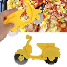 New Motorcycle Pizza Cutter Slicer Wheel Steel Bike Kitchen Chopper Blade Handle