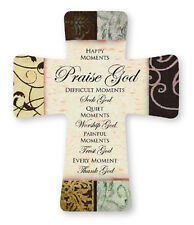 PORCELAIN CROSS HAPPY MOMENTS PRAISE GOD DIFFICULT MOMENTS SEEK GOD OTHERS AVAIL