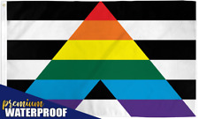 Straight Ally Flag 2' x 3' (FT) LGBTQ Ally Indoor/Outdoor Wall Sized Dorm Room