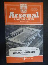 1955/56 Football Programme ARSENAL v PORTSMOUTH - 17th September
