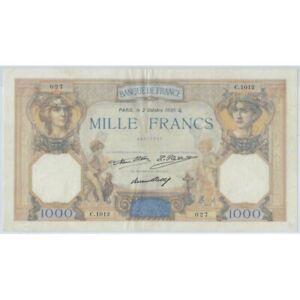 FRANCE 1000 FRANCS CERES ET MERCURE 2 OCTOBRE 1930 C.1012 TTB