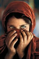 STEVE MCCURRY AFGHAN GIRL Quadro su Pannello in Legno Mdf 73 X 49 CM