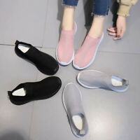 Women Flat Shoes Breathable Knitted Mesh Walking Sneakers Soft Sock Shoes