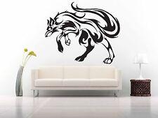 Wall Room Decor Art Vinyl Sticker Mural Decal Tribal Tattoo Fox Wolf Cool FI492