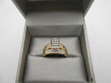 $2999 ZALES 14k Yellow Gold 1ct Princess Cut Engagement Style Diamond Ring Sz 9