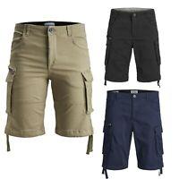 3453b5ac36193 Jack & Jones Men's Chino Cargo Short Plus Size Bermuda Summer Casual Half  Pants
