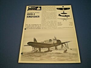 "MONOGRAM Original 1966 single sided Dealer flyer ""1:48 scale 0S2U-3 KINGFISHER """