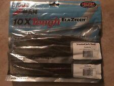 "Z-Man10X ElaZtech Scented Jerk ShadZ Redbone (2) 4-Packs 7"" Free Shipping"