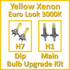 Warm White 3000K Yellow Xenon Headlight Bulb Set Main Dip Fog H7 H1 Kit