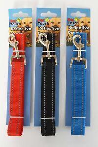 Reflective Dog Lead 2.0x120cm & 2.5x120 Red, Blue & Black