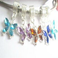 5pcs  mixed European charm bead DIY fit 925 Silver Necklace Bracelet #224-1