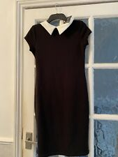 LADIES CLOTHES ~ BLACK COLLARED DRESS ~ SIZE 12