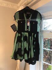 EMANUEL UNGARO Dress  SIZE 40 / 10 BLACK GREEN COCKTAIL DRESS NEW
