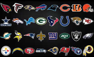 """NFL Fathead style Wall Decals 24"""""""