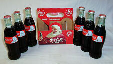 1991 COCA COLA CHRISTMAS SANTA HOLIDAY 6 PACK FULL BOTTLE