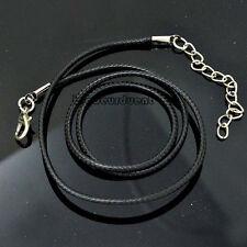 BRA Aesthetic10pcs Moda Collar Gargantilla ajustable cordón negro de cuero real