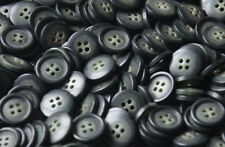 20pcs 10mm 1cm Round Sewing Buttons Black Green 4 Hole Shirt Jacket Top Suit
