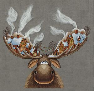 Panna Cross Stitch Kit : Christmas Moose