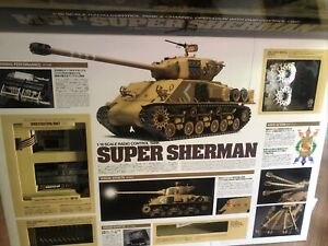 Tamiya 1/16 Radio Control Tank M51 Super Sherman Full Operation Kit  HTF New!