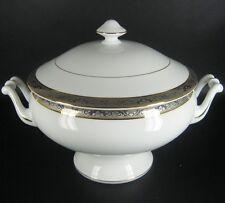 Limoges Porzellan Terrine Golddekor / Goldband France Porcelain Tureen