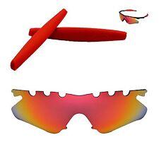 aa97410f2b6 WL Polarized Fire Red Vented Lenses + Red Earsocks For Oakley M Frame Heater