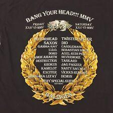 2005 Bang Your Head Large Gray Ringer T-Shirt Band Metal Rock German Festival