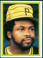 Original Autograph of Bill Madlock of the Pittsburgh Pirates on a Topps Sticker