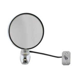 United Pacific Chrome Exterior Mirror w/ Remote, 1964-1966 Mustang, Mdl F646605