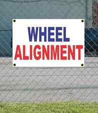 2x3 Wheel Alignment Red White & Blue Banner Sign New Discount Size & Price
