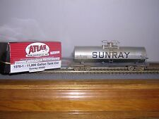 ATLAS #1070-1 Sunray 11,000 Gallon Tank Car #2022 Weathered H.O. 1/87