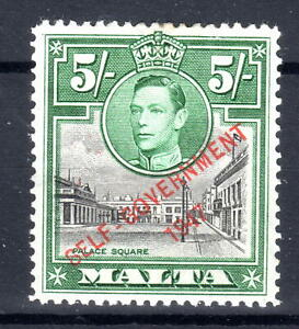 Malta 5/- overprint- lightly mounted mint [see scan]SG247 Cat £30+ [C280721]