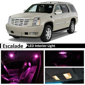 18x Pink Interior Map Door LED Light Package for 2007-2014 Cadillac Escalade SUV