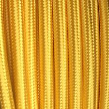 Textilkabel, Stoffkabel, Textilleitung, rund, mais-gold 3x0,75mm² H03VV-F