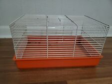 Vintage Small Animal Hamster Cage Mouse Orange Retro White Rodent Open Top